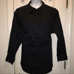 Lane Bryant black button front blouse size 26